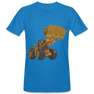 Old Mining Wheel Loader - Yellow - Men's Organic T-shirt