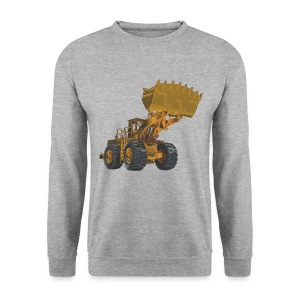 Old Mining Wheel Loader - Yellow - Men's Sweatshirt