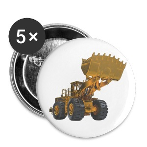 Old Mining Wheel Loader - Yellow - Buttons medium 32 mm