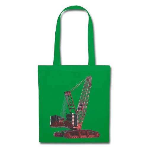 Crawler Crane 750t - Red - Tote Bag