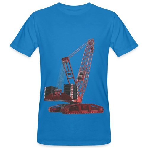 Crawler Crane 750t - Red - Men's Organic T-Shirt