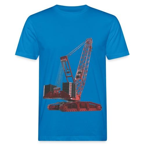 Crawler Crane 750t - Red - Men's Organic T-Shirt