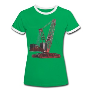 Crawler Crane 750t - Red - Women's Ringer T-Shirt