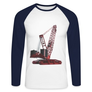 Crawler Crane 750t - Red - Men's Long Sleeve Baseball T-Shirt