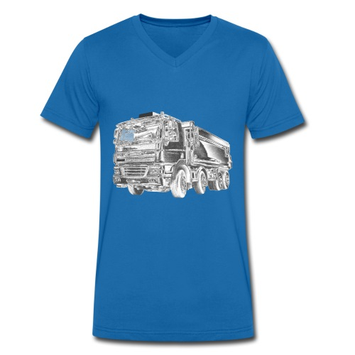 Tipper Truck 8x4 - Men's Organic V-Neck T-Shirt by Stanley & Stella
