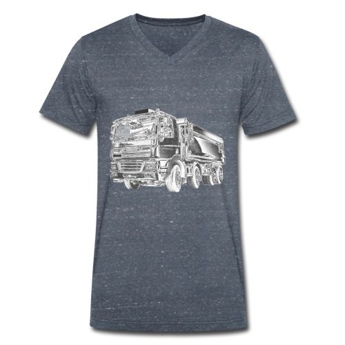Tipper Truck 8x4 - Men's Organic V-Neck T-Shirt by Stanley & Stella