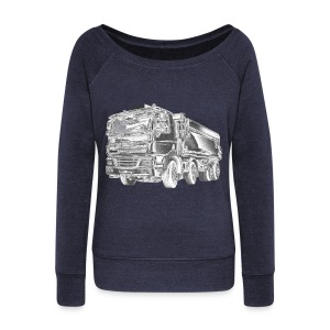 Tipper Truck 8x4 - Women's Boat Neck Long Sleeve Top