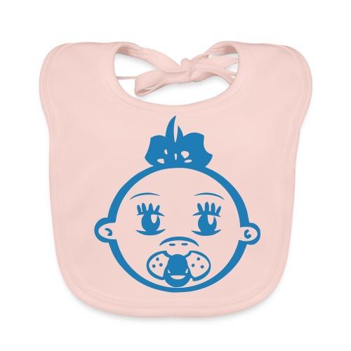 Lätzchen  Girl blau glitter - Baby Bio-Lätzchen