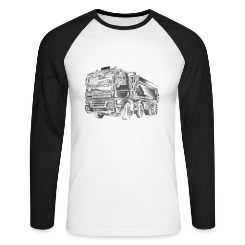 Tipper Truck 8x4 - Men's Long Sleeve Baseball T-Shirt