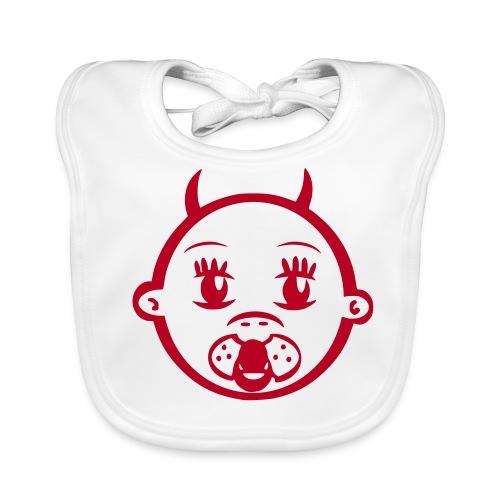 Lätzchen  Devil Flockdruck rot - Baby Bio-Lätzchen