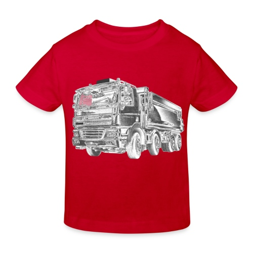 Tipper Truck 8x4 - Kids' Organic T-Shirt