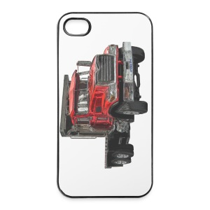 Flatbed Truck 3-axle - Red - iPhone 4/4s Hard Case