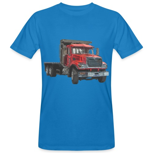 Flatbed Truck 3-axle - Red - Men's Organic T-Shirt