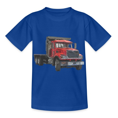Flatbed Truck 3-axle - Red - Kids' T-Shirt
