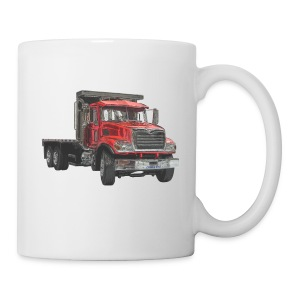 Flatbed Truck 3-axle - Red - Mug
