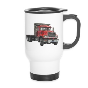Flatbed Truck 3-axle - Red - Travel Mug