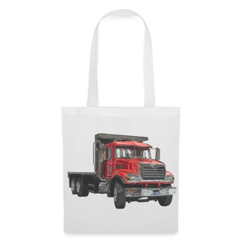 Flatbed Truck 3-axle - Red - Tote Bag