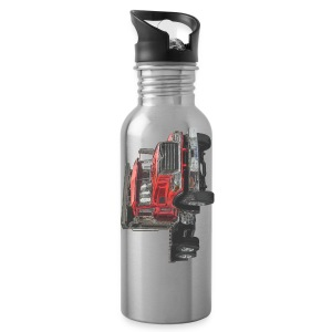 Flatbed Truck 3-axle - Red - Water Bottle