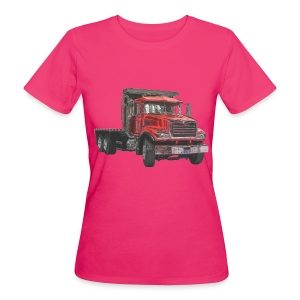 Flatbed Truck 3-axle - Red - Women's Organic T-shirt