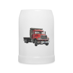 Flatbed Truck 3-axle - Red - Beer Mug