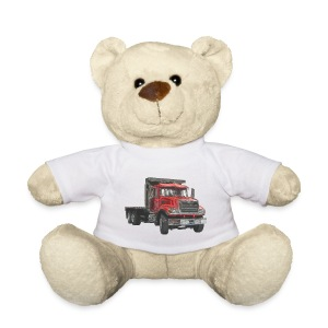 Flatbed Truck 3-axle - Red - Teddy Bear