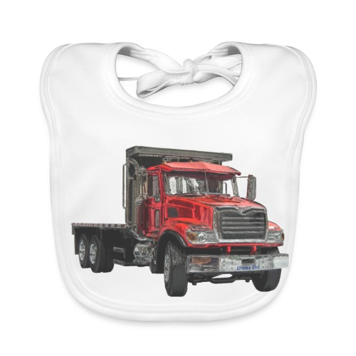 Flatbed Truck 3-axle - Red - Baby Organic Bib
