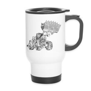 Old Mining Wheel Loader - Travel Mug