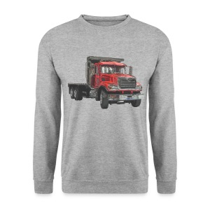 Flatbed Truck 3-axle - Red - Men's Sweatshirt