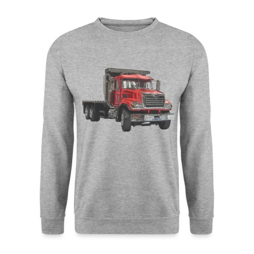 Flatbed Truck 3-axle - Red - Men's Sweatshirt
