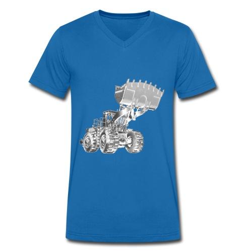 Old Mining Wheel Loader - Men's Organic V-Neck T-Shirt by Stanley & Stella