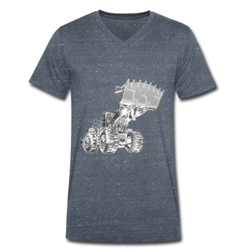 Old Mining Wheel Loader - Men's Organic V-Neck T-Shirt by Stanley & Stella