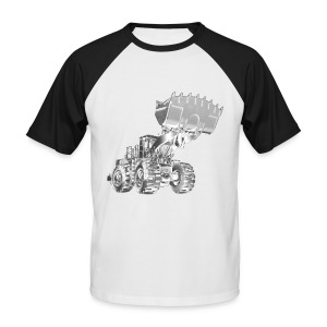 Old Mining Wheel Loader - Men's Baseball T-Shirt
