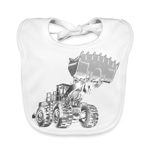 Old Mining Wheel Loader - Baby Organic Bib