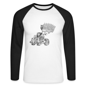 Old Mining Wheel Loader - Men's Long Sleeve Baseball T-Shirt