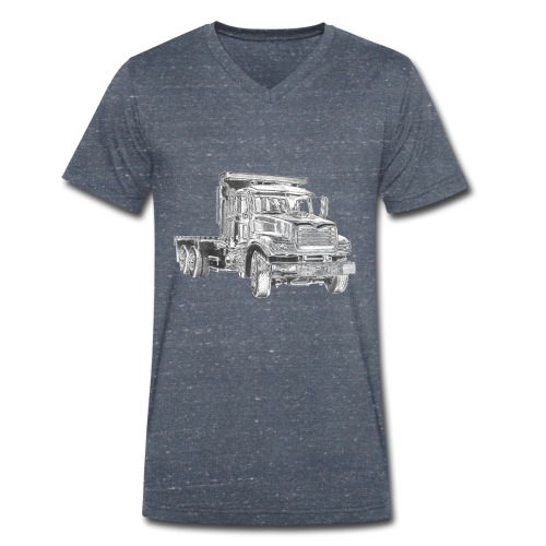 Flatbed truck - 3-axle - Men's Organic V-Neck T-Shirt by Stanley & Stella