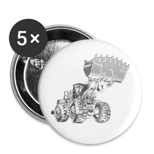 Old Mining Wheel Loader - Buttons medium 32 mm