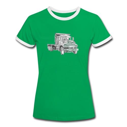 Flatbed truck - 3-axle - Women's Ringer T-Shirt