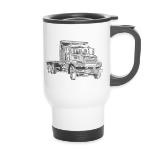 Flatbed truck - 3-axle - Travel Mug