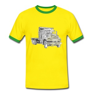 Flatbed truck - 3-axle - Men's Ringer Shirt
