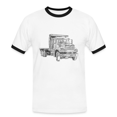 Flatbed truck - 3-axle - Men's Ringer Shirt
