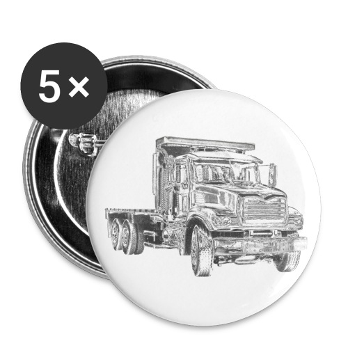 Flatbed truck - 3-axle - Buttons small 1''/25 mm (5-pack)