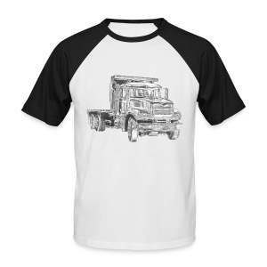 Flatbed truck - 3-axle - Men's Baseball T-Shirt