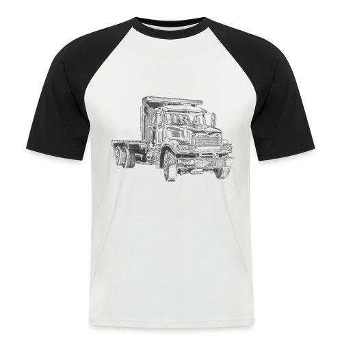 Flatbed truck - 3-axle - Men's Baseball T-Shirt