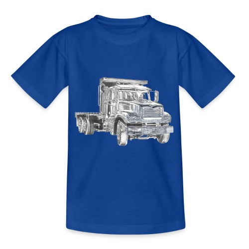 Flatbed truck - 3-axle - Teenage T-Shirt