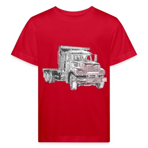 Flatbed truck - 3-axle - Kids' Organic T-Shirt