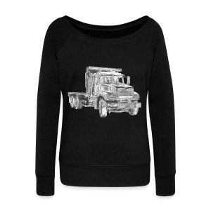 Flatbed truck - 3-axle - Women's Boat Neck Long Sleeve Top