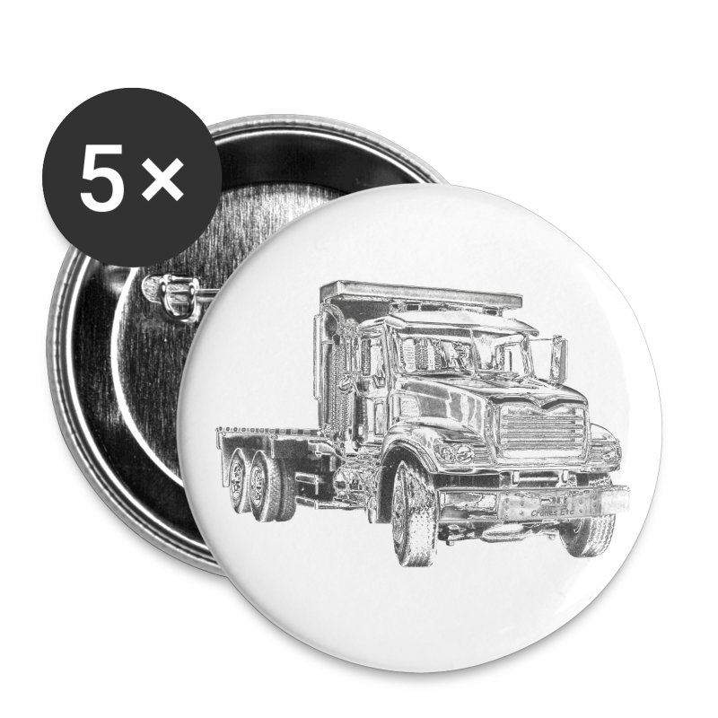 Flatbed truck - 3-axle - Buttons large 56 mm