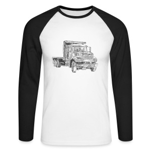 Flatbed truck - 3-axle - Men's Long Sleeve Baseball T-Shirt