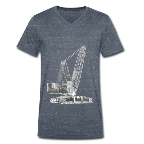 Crawler Crane 750t - Men's Organic V-Neck T-Shirt by Stanley & Stella