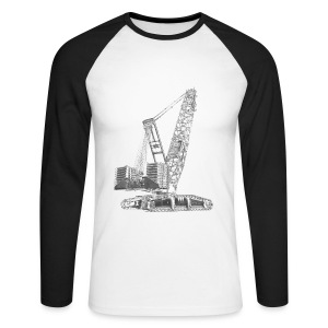 Crawler Crane 750t - Men's Long Sleeve Baseball T-Shirt